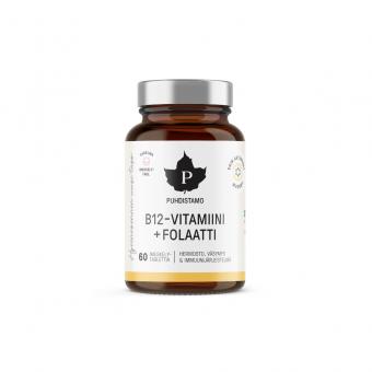 B12-vitamiini + Folaatti - 60 imeskelytabl. Puhdistamo