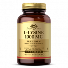L-lysine 1000mg 50tabl Solgar